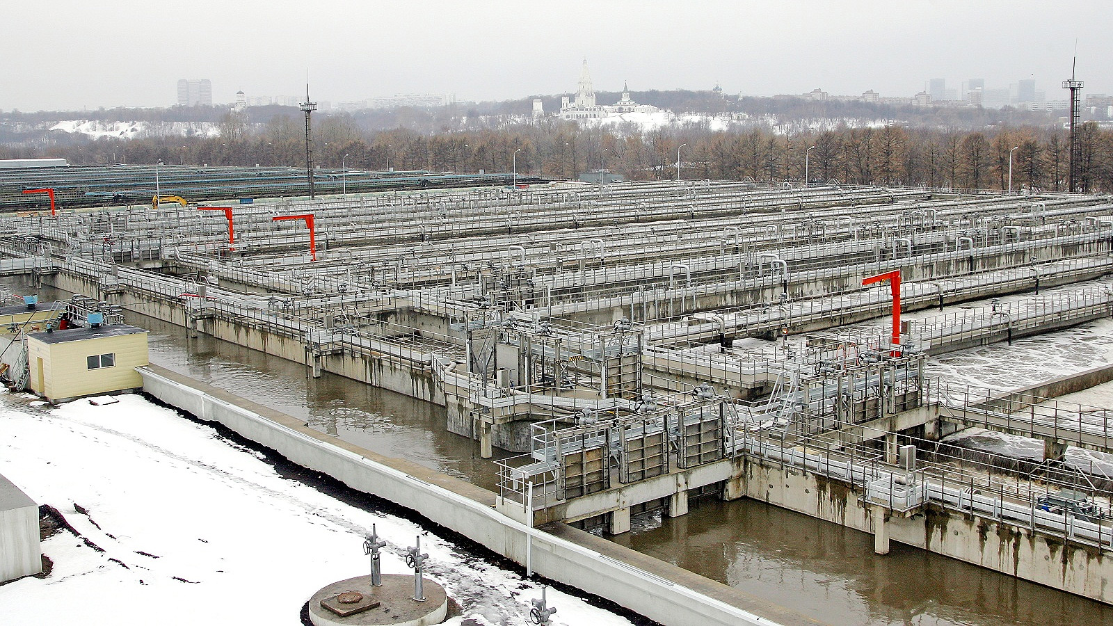 На юго-востоке Москвы продолжается реконструкция Курьяновских очистных сооружений